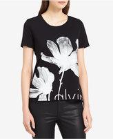 Calvin Klein Jeans Floral Logo-Graphic T-Shirt