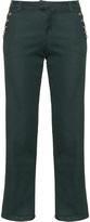 Zizzi Plus Size Button accent straight leg jeans