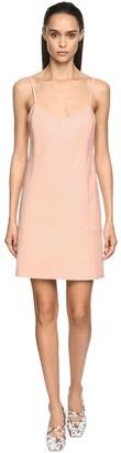 Drome Leather Knee Length Slip Dress