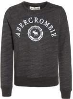 Abercrombie & Fitch TEXTURED LOGO CREW Jumper dark grey
