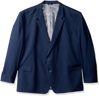 Haggar Men's Big and Tall B&T Solid Gab Stretch Classic Fit Suit Separate Coat