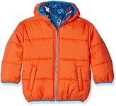 Hatley Boy's Puffer Coat, Orange/Blue, 8 Years