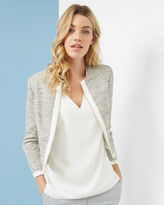 Ted Baker Cropped sparkle boucle jacket