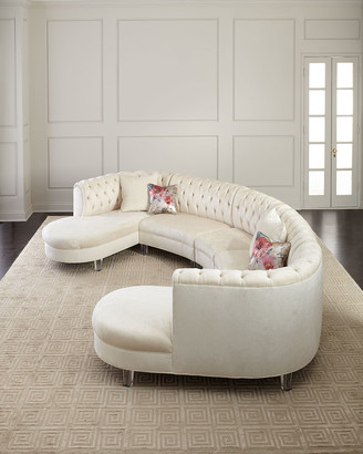 Haute House Pouf Double Chaise Sectional