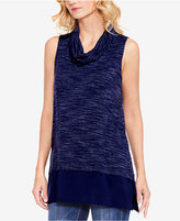 Vince Camuto Space-Dyed Cowl-Neck Top