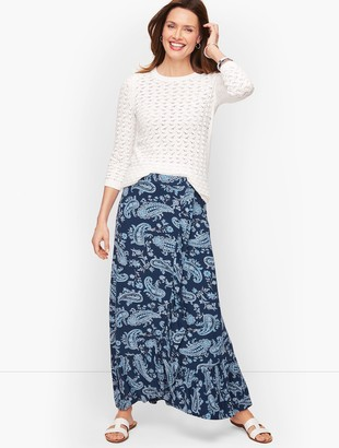 Talbots Cascading Knit Wrap Skirt