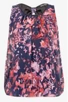Select Fashion Fashion Womens Navy Butterfly Sless Bubble Blouse - size 10