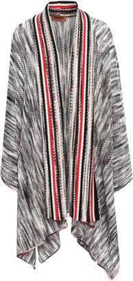 Missoni Asymmetric Marled Open-knit Wool Cardigan