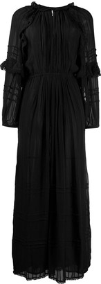 Etoile Isabel Marant Embroidered Trim Peasant Dress