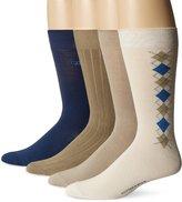 Cutter & Buck Men's 4 Pack Light Argyle Crew Socks