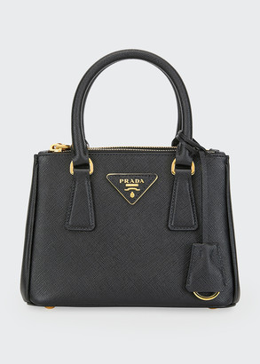 Prada Mini Galleria Tote w/ Removable Crossbody Strap