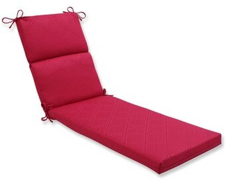 Maja Bay Isle Home Indoor/Outdoor Chaise Lounge Cushion Bay Isle Home Fabric: Raspberry