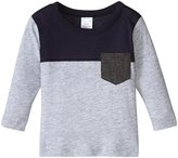 City Threads Color Block Tee (Baby) - Heather Gray/Navy - 9-12 Months