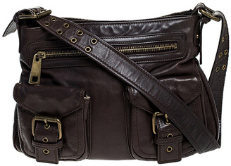 Marc Jacobs Brown Leather Front Pocket Shoulder Bag