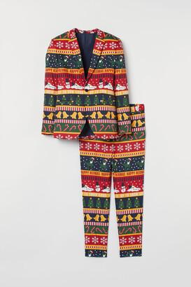 H&M Patterned Suit - Blue