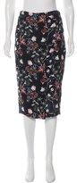 A.L.C. Silk Floral Print Skirt