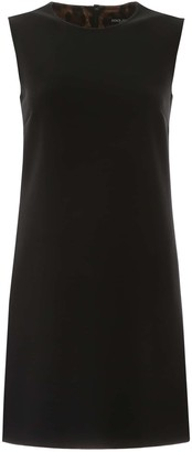 Dolce & Gabbana CREPE MINI DRESS 40 Black