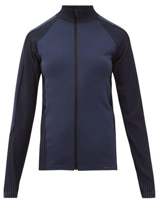 Falke Zipped Technical-jersey Thermal Top - Dark Blue