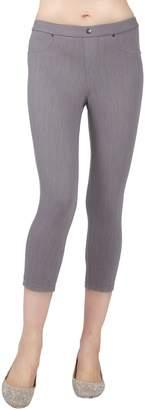 Me Moi Cotton-Blend Chino Capri Leggings