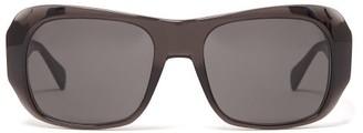Celine Round Acetate Sunglasses - Womens - Dark Grey