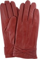 Bushga Ladies Butter Soft Preminum Leather Glove with bow & 3 Point Stitch design