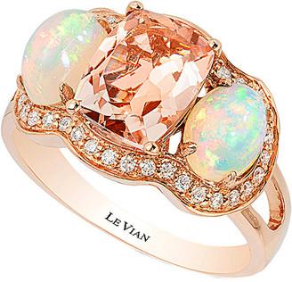 LeVian Le Vian 14K Rose Gold 2.52 Ct. Tw. Diamond & Gemstone Ring