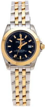 Breitling Black Gold Plated Stainless Steel Galactic 32 Sleek Edition Women's Wristwatch 32mm