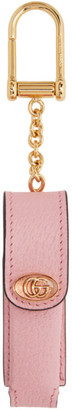 Gucci Pink Single Porte-Rouges Keychain
