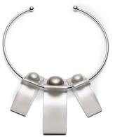 Alexis Bittar Pearl Studded Geometric Collar