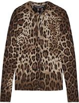 Dolce & Gabbana Leopard-print Cashmere And Silk-blend Cardigan - Leopard print