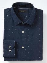 Banana Republic Camden-Fit Cotton Stretch Non-Iron Micro-Dot Shirt