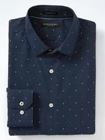 Banana Republic Camden-Fit Non-Iron Stretch Dot Shirt