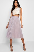 Boohoo Boutique May Jacquard Top Midi Skirt Co-Ord Set