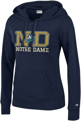 Champion NCAA Women's Comfy Fitted University Fleece Hoodie Notre Dame Fighting Irish X-Small