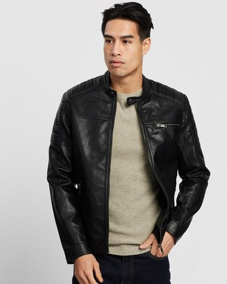 Jack and Jones Rocky Faux Leather Jacket