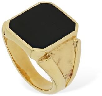 Bottega Veneta Enamel Square Thick Ring