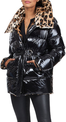 Yves Salomon Down Jacket Reversible To Sheared Rabbit