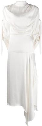 MATÉRIEL Draped Midi Dress