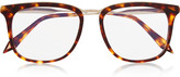Victoria Beckham D-frame Acetate Optical Glasses - Tortoiseshell