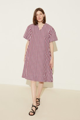 Mansur Gavriel Oversized Gingham Dress - Wine