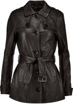 J Brand Arrow leather trench coat