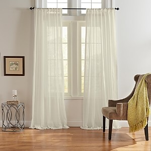Elrene Home Fashions Asher Cotton Voile Sheer Curtain Panel, 52 x 95