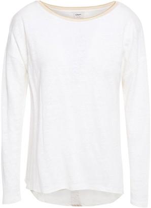 Charli Metallic-trimmed Slub Linen-jersey Top