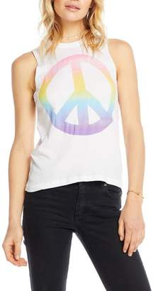 Chaser Watercolor Peace Tank