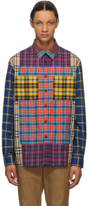 Burberry Multicolor Check Tindall Patchwork Shirt