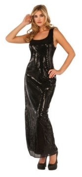 BuySeasons Women's Sultry Sequin Black Dress Adult Costume