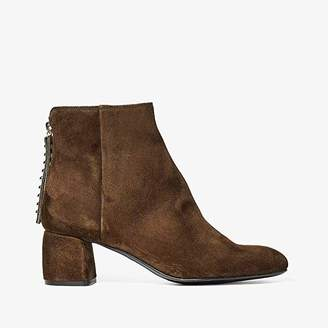 AGL Back Zip Ankle Bootie (Forest Green) Women's Shoes