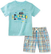 Kids Headquarters 2-Pc. Submarine-Print T-Shirt & Plaid Cargo Shorts Set, Baby Boys
