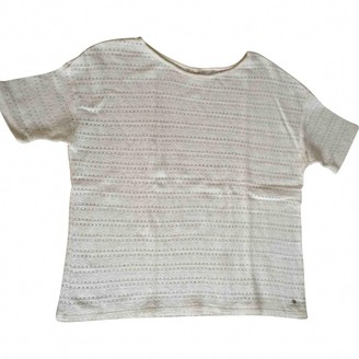 Des Petits Hauts White Cotton Top for Women