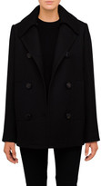 Proenza Schouler Short Pea Coat With Knit Detail